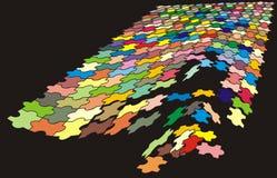 Farbenpuzzlespiel (getrennt) lizenzfreie stockbilder