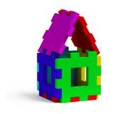 Farbenpuzzlespielhaus Lizenzfreies Stockfoto