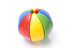 Farbenpuzzlespielkugel Stockfotos