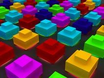Farbenpyramiden Stockfotos