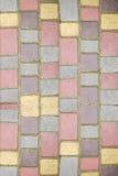Farbenquadrate und -vierecke Stockfoto