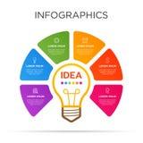 Farbenreiche Gesch?ftsaufkleber Infographic-Schablone lizenzfreie stockbilder