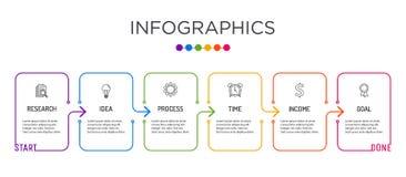 Farbenreiche Gesch?ftsaufkleber Infographic-Schablone lizenzfreie stockfotografie
