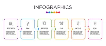 Farbenreiche Gesch?ftsaufkleber Infographic-Schablone lizenzfreies stockfoto