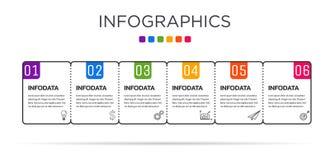Farbenreiche Gesch?ftsaufkleber Infographic-Schablone stockfoto
