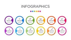 Farbenreiche Gesch?ftsaufkleber Infographic-Schablone lizenzfreie stockfotos