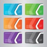 Farbenreiche moderne Visitenkarte der Visitenkarte Stockbilder