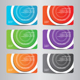 Farbenreiche moderne Visitenkarte der Visitenkarte Stockfotografie