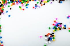 Farbenreiche Perlen Stockfoto