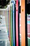 Farbenreicher Zaun Lizenzfreies Stockbild