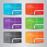 farbenreiches modernes der Karte Lizenzfreie Stockfotografie