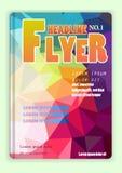 Farbenreiches polygonales niedriges Poly der Broschürenabdeckung Stockfoto