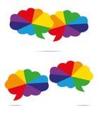 Farbenspracheluftblase Lizenzfreies Stockfoto