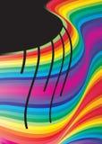 Farbenstromvektor lizenzfreie abbildung