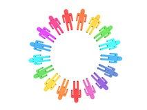Farbenteamwork Lizenzfreies Stockfoto