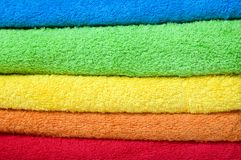 Farbenterry-Tücher Lizenzfreies Stockfoto