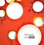 Farbentinte befleckt Sprachewolken Lizenzfreie Stockbilder