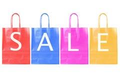 Farbenverkaufs-Einkaufenbeutel stockfotografie