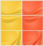 Farbenweb-Fahnenset Stockfoto