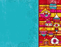 Farbenweihnachtshintergrund Stockfoto