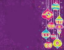 Farbenweihnachtshintergrund Lizenzfreies Stockbild