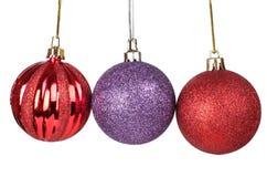 Farbenweihnachtskugeln Lizenzfreie Stockfotografie