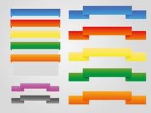 Farbenweinlese für Web oder Druck Stockfotos
