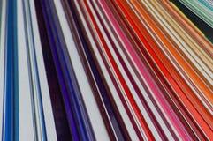 Farbenzeilen Lizenzfreie Stockfotografie