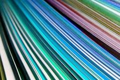 Farbenzeilen Stockfotografie