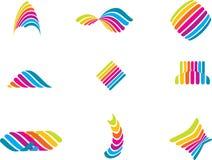 Farbenzeilen Stockfotos