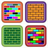 Farbenziegelsteintasten für Web-Einheiten und das Zwischen Lizenzfreies Stockfoto