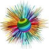 Farbexplosion Stockfoto