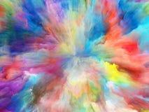 Farbexplosionshintergrund lizenzfreie abbildung