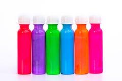 Farbfarbe auf weißem Hintergrund stockbilder