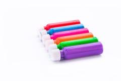 Farbfarbe auf weißem Hintergrund Lizenzfreies Stockbild