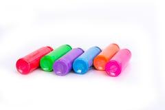 Farbfarbe auf weißem Hintergrund lizenzfreies stockfoto