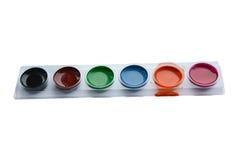 Farbfarben, Aquarell Lizenzfreies Stockfoto