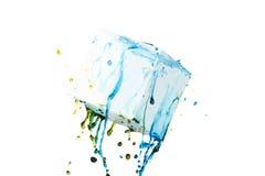 Farbfarben-Spritzenhintergrund, flüssige Wolkentintenzusammenfassung lokalisiert Lizenzfreies Stockfoto