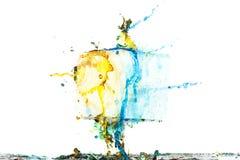 Farbfarben-Spritzenhintergrund, flüssige Wolkentintenzusammenfassung lokalisiert Lizenzfreie Stockbilder