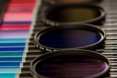 Farbfilter von Fotografie Stockfotos
