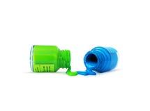 Farbflasche lizenzfreie stockfotografie