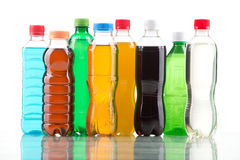 Farbflasche lokalisiert auf einem Weiß Stockbilder