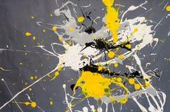 Farbfleck- Verunstaltung auf dem grauen Hintergrund stockbilder