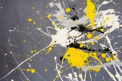 Farbfleck- Verunstaltung auf dem grauen Hintergrund lizenzfreies stockbild