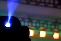 Farbflutlicht zum Belichten von Glühen in der Dunkelheit Lizenzfreie Stockfotografie