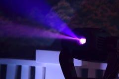 Farbflutlicht zum Belichten von Glühen in der Dunkelheit Lizenzfreies Stockfoto