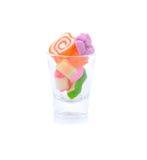Farbfruchtgeleesüßigkeiten auf weißem Hintergrund Lizenzfreie Stockbilder