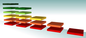 Farbgrafik Stockbild