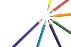 Farbhölzerner Stern der bunten Bleistifthintergrund-Palette Lizenzfreies Stockbild