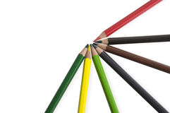 Farbhölzerner Stern der bunten Bleistifthintergrund-Palette Lizenzfreie Stockfotografie